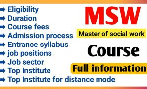 Masters in Social work (MSW)